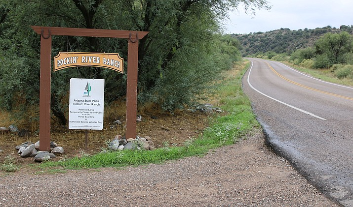 Salt Mine Road, an old, winding road that was recently paved, provides access to Rockin' River Ranch and nearby homes. (Cronkite News/Alexis Kuhbander)