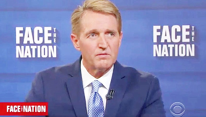 Sen. Jeff Flake, R-Arizona, said the Republican Party has lost its way and turned to nativism and protectionism instead of the Goldwater values of limited government and individual responsibility. Those are themes of his new book, the opening salvo in what is expected to be a tough 2018 re-election campaign for Flake.
