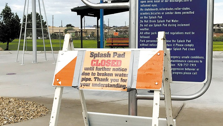 The Splash Pad at Cecil Davis Park is closed until further notice due to a pipe that broke under the concrete.