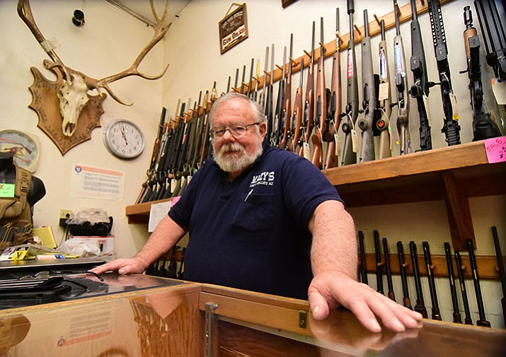 Dave Mazy of Mazy's Guns (Les Stukenberg/The Daily Courier)