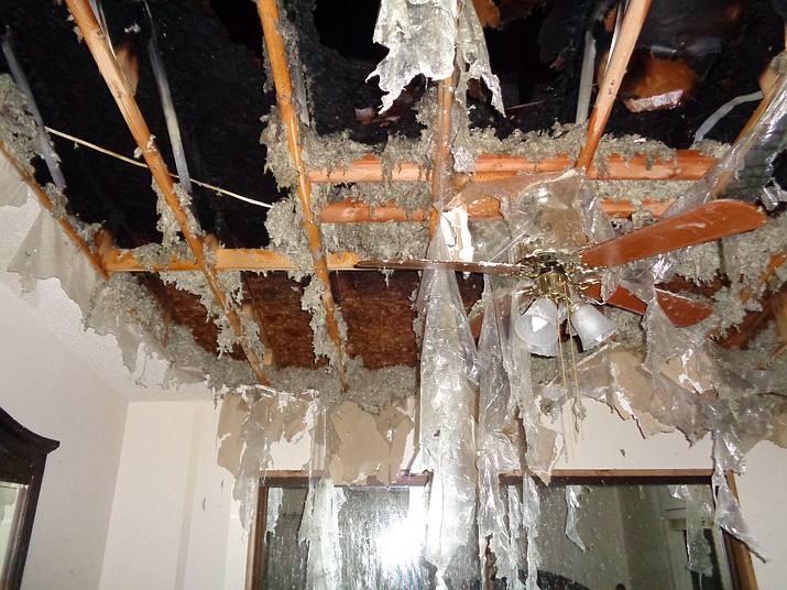 Fire damage was kept to the attic area of a Chino Valley mobile home after an Aug. 1 lightning strike ignited a blaze.