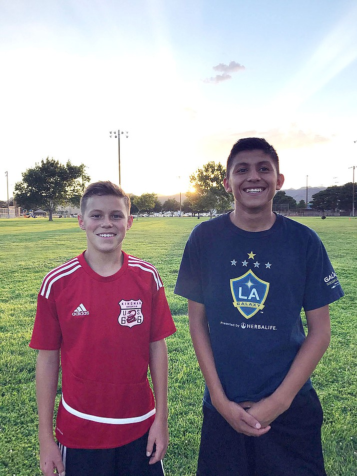 Lee Williams High School freshmen Gabriel Otero, left, and Marco Castaneda are looking to make Nevada's 15U ODP team.