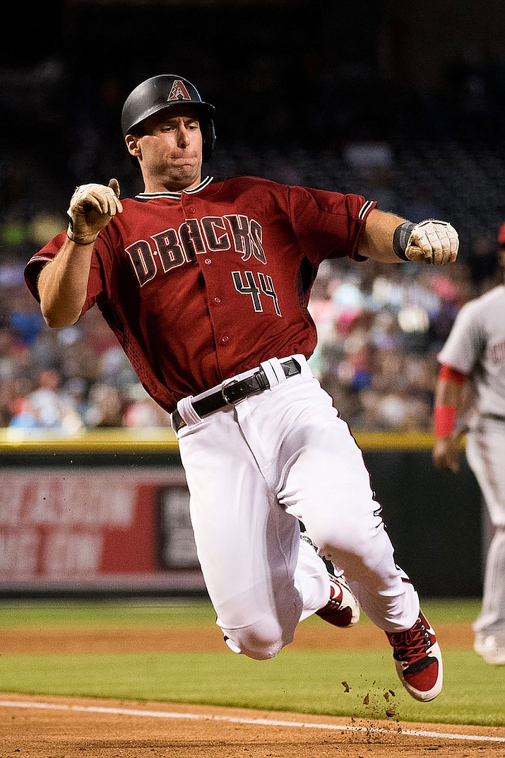 Paul Goldschmidt hit three home runs Thursday in a 10-8 win over the Chicago Cubs.