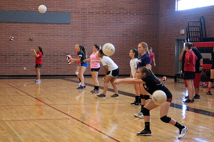 Lee Williams hosted open gym for 52 volleyball players Thursday afternoon.