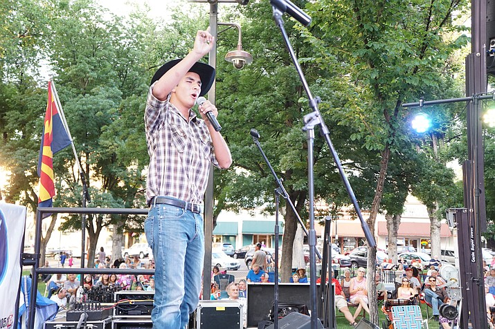 "During a recent Prescott Idol performance, local singer Thomas Apalategui belts out ""Chicken Fried,"" a song by the Zac Brown Band."