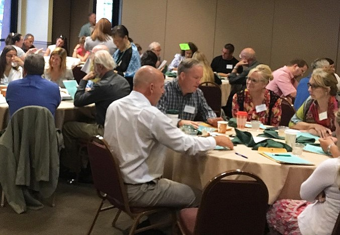 """Participants at the 2016 Verde Valley Forum deep in thought and debate about the subject, """"Post Secondary Education in the Verde Valley."""" The 2017 Verde Valley Forum to be held on Sept 8 and 9 will invest their time and energy to defining the issues and crafting solutions on this year's forum, """"Strengthening PreK-12 Education in the Verde Valley Region."""" Application to attend and participate (limited to Verde Valley residents) is available online at VVForum.org with a deadline of August 18."""
