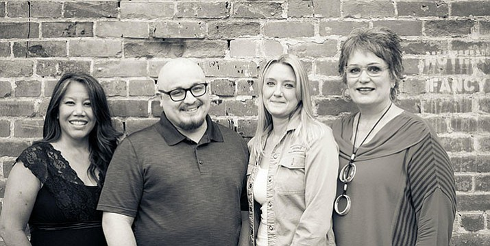 From left, Melanie Banayat, founder/CEO, Josh Bowen, tech consultant, Jodie Krueger, content developer, and Deborah Mainville-Knight, project management facilitator. (WingSpace/Courtesy)