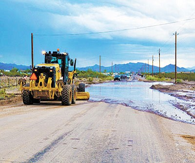 Mohave County Public Works' blade will be active this week.