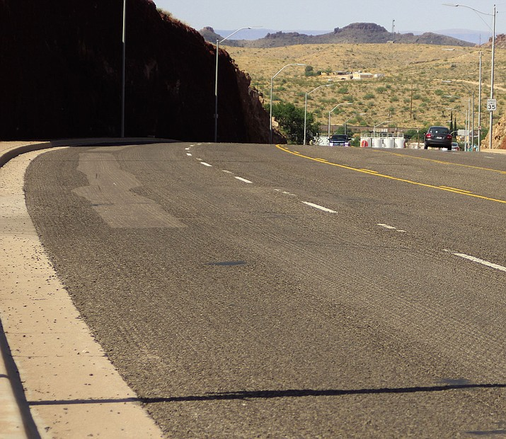 The El Trovatore Hill section of Andy Devine Avenue won't have its reconstruction finished until April, according to the City of Kingman Public Works Department.