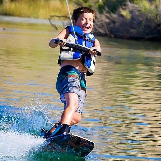 Ryder Bliss enjoys a day of wakeboarding in this photo shared with the News-Herald. New boating rules that take effect today require wakeboarders to be watched by a designated observer on the boat.