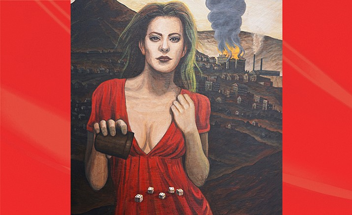 'Lady Fate and the Montana Hotel' by Jason Voss, on display at Cartwheels Gallery.