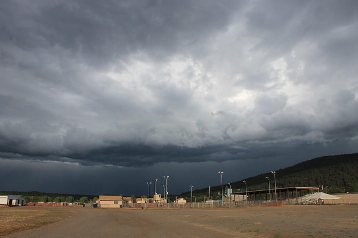 A monsoon storm rolls into Williams mid July. Rain totals for July were above average for most of northern Arizona.