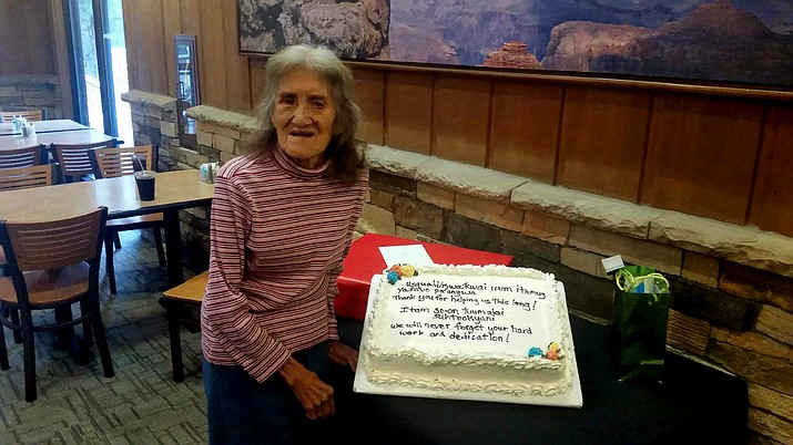 Letha Talasayousiea worked seasonally at the Grand Canyon before being permanently hired on in 1971. She has worked for Xanterra for 46 years.