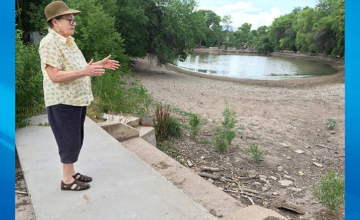 Once owned by the Moody family, the lakes at Verde Lakes could become property of the Town of Camp Verde. Pictured, Deb Moody. (Photo by Bill Helm)