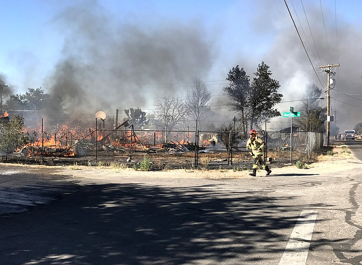 The scene of the July 2 Butler fire that destroyed four homes.