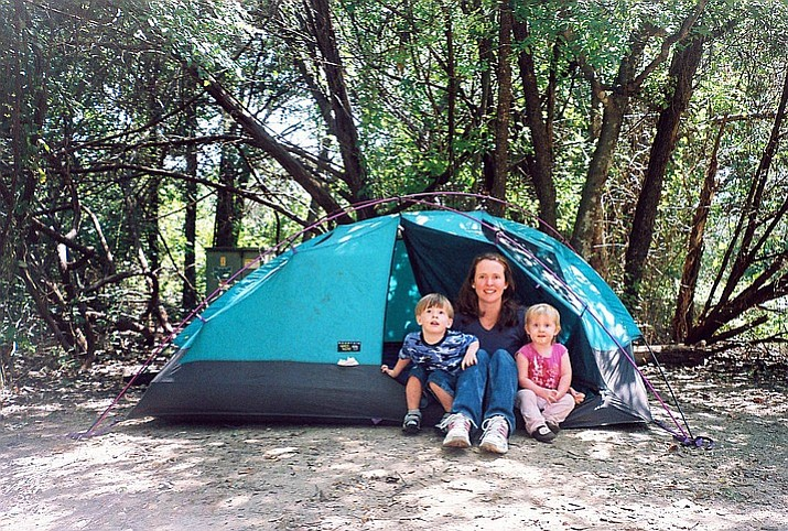 Sarah Beadle and her daughter, Laura, on a previous camping trip. (Photo courtesy of Scott Beadle)