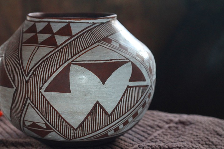 Tim Edaakie and Bobby Silas create traditional Hopi and Zuni pottery.