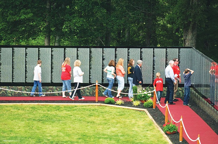 The Moving Wall, a replica of the Vietnam Veterans Memorial Wall in Washington D.C. will be displayed at Twin Arrows Navajo Casino Aug. 10-16. The event is open to the public. Submitted photo