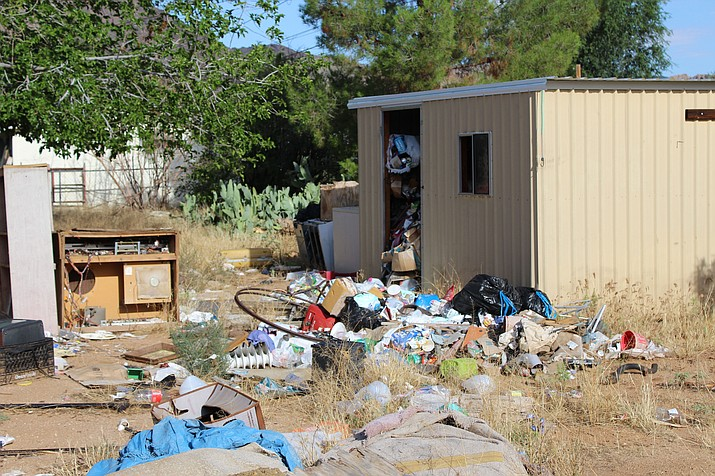 This property in North Kingman has been nearly two years in the process of getting cleaned up through the process set forth by Mohave County.