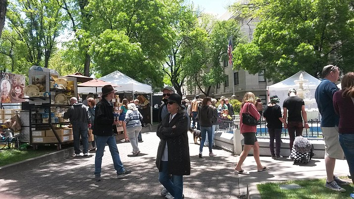 The Arts and Crafts Festival takes place every year in downtown Prescott on the Yavapai County Courthouse Plaza. (Mountain Artists Guild/Courtesy)