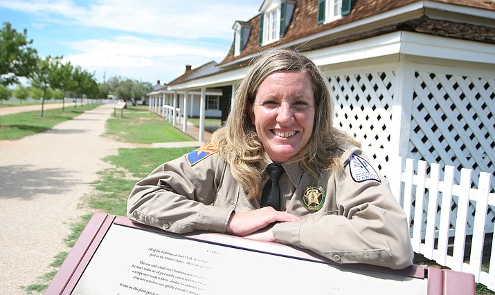 Fort Verde Park Manager Sheila Stubler has been selected by Camp Verde Promotions to be grand marshal at this year's Fort Verde Days parade. (Photo by Bill Helm)