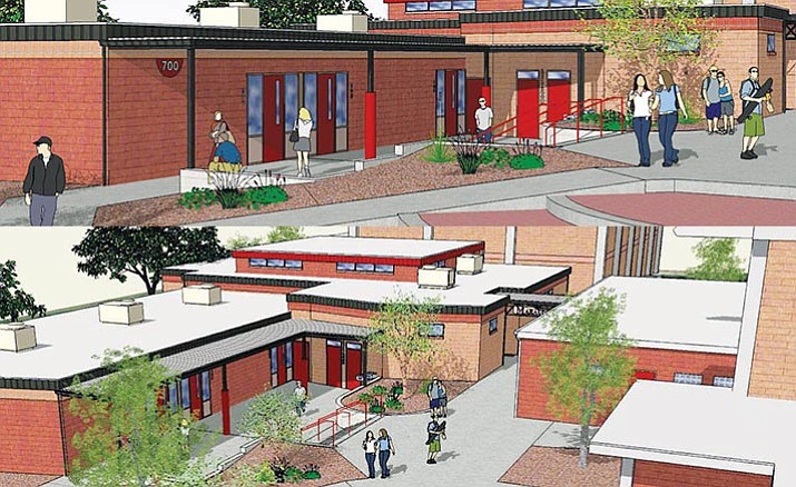 Current construction at Mingus Union High School is part of a larger three-phase renovation of Mingus, which is being funded by a $15 million voter-approved bond. Completion of the project is slated for the September 2017. (Courtesy photos)
