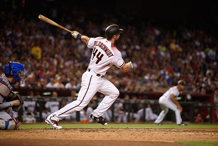 Arizona's Paul Goldschmidt hit a solo homer in the sixth inning of Friday's loss to the Chicago Cubs.