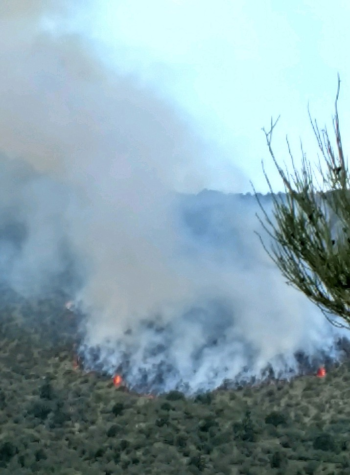 The Sweetwater Fire in the Hualapai Mountains has grown to nearly 35 acres after reaching 20 acres early Thursday evening.