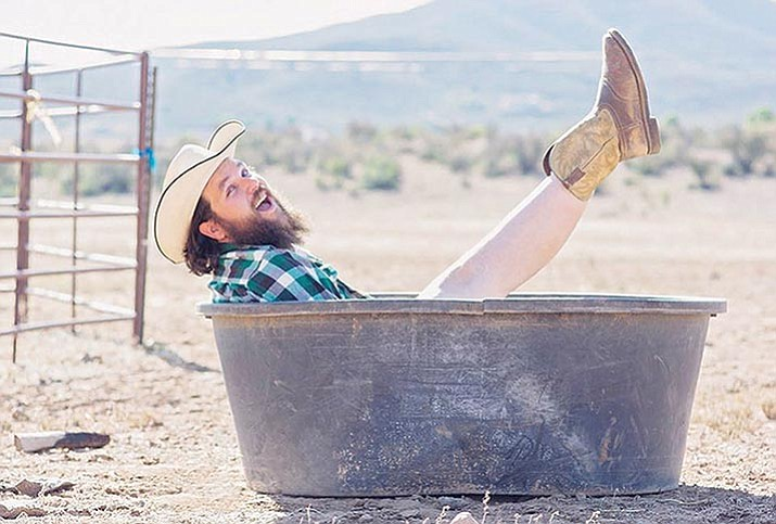 """Mr. May,"" The Ravishing Rancher shows some leg for the 2018 calendar.  (Chad Castigliano/Courtesy photo)"