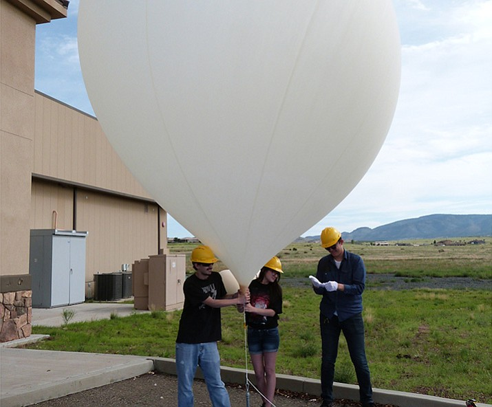 "Embry-Riddle Aeronautical University students are assisting with a project to take live-stream aerial video footage of the ""Great American Eclipse"" using a high-altitude balloon. (ERAU/Courtesy)"