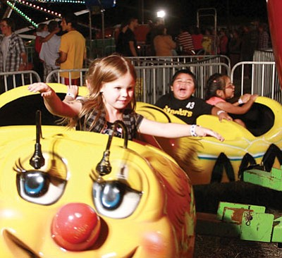 Children are always ready to enjoy the fair.