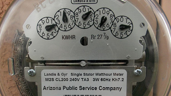 "The APS rate case, expected to be voted on Tuesday, Aug. 15, will include not only the subject of a rate increase but also whether people who refuse use of a ""smart meter"" will pay a fee, among other issues. (Tim Wiederaenders/Courier)"
