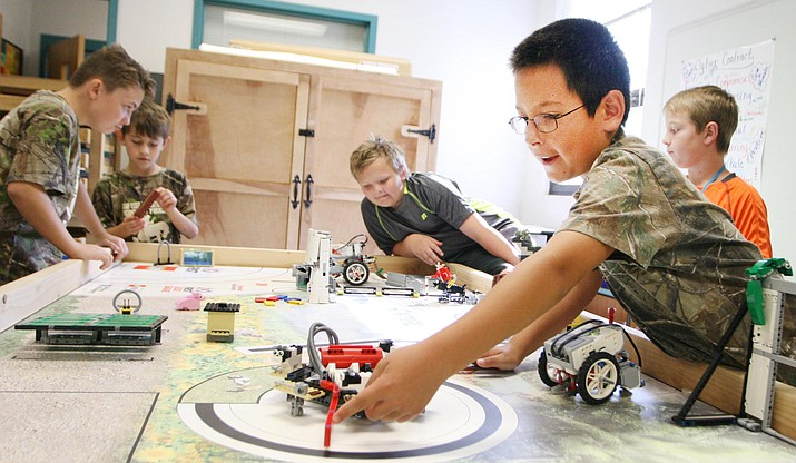 Robotics is one of the several 5t Day programs available at Camp Verde Unified School District. (Photo by Bill Helm)