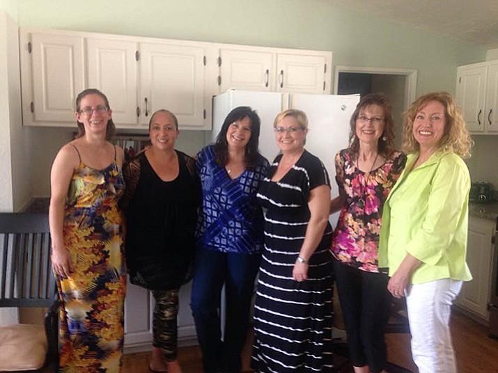 From left, Whitnie Bauer of Rodan & Fields, Lucy Leva (Maid to Order), Deserving Woman award recipient Jann Watts, Jamie Goeringer (SMARTgirls), Marj Melchiors (All Natural Cosmetics), Robin Binkley (Allstate). (Jamie Goeringer/Courtesy photo)