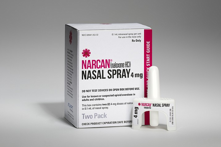 Naloxone hydrochloride, sold under the brand name Narcan, can reverse the effects of an opioid overdose when sprayed into the nostrils.