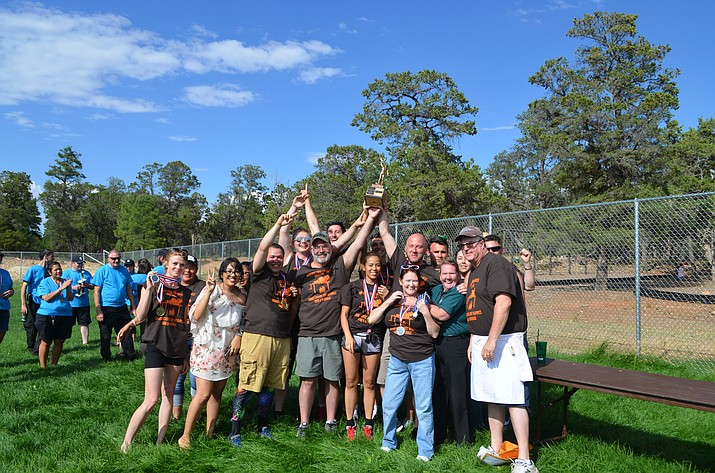 Xanterra employees competed for property supremacy (and a trophy) at this year's 22nd annual Property Olympics July 15. Employees participated in team events including corn hole, memory match and running the gauntlet. The overall winning team was Food and Beverage, followed by Support and Retail.