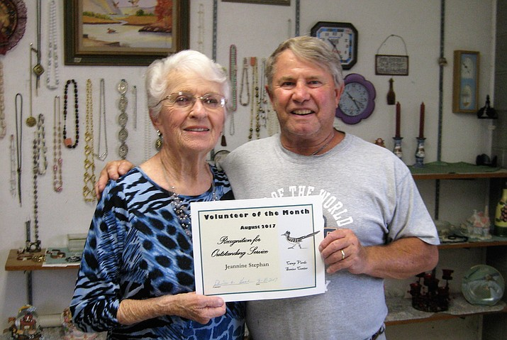 Camp Verde Senior Center president Dennis Hach has named Jeannine Stephan as Volunteer of the Month.