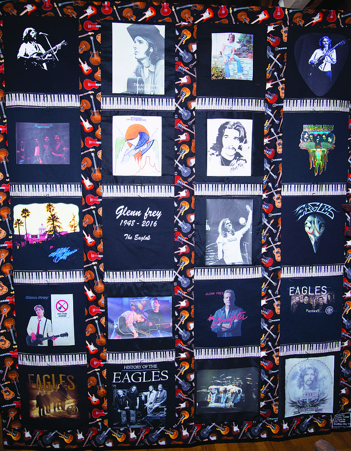 """Standin' On The Corner"" Festival in Winslow takes place Sept. 29 and 30.  Part of the festival will include a quilt raffle Sept. 30. The quilt is a one-of-a-kind tribute to The Eagles and can be viewed at the Winslow Visitor Center at 523 Second Street, Winslow."