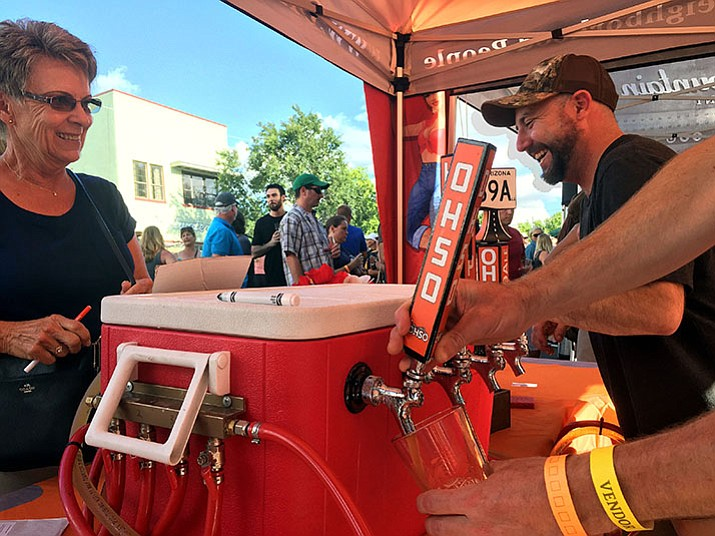 Beer was flowing at the sixth annual Mile High Brewfest in downtown Prescott on Saturday, Aug. 12. (Max Efrein/Courier)