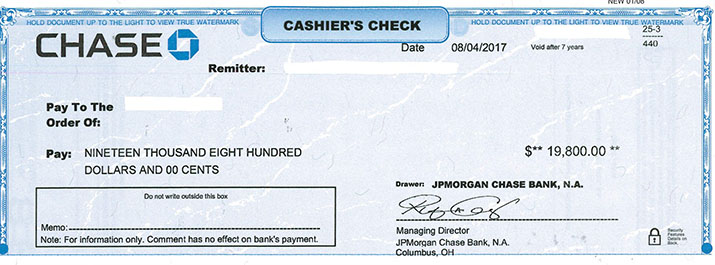 how to cancel cashiers check bank of america