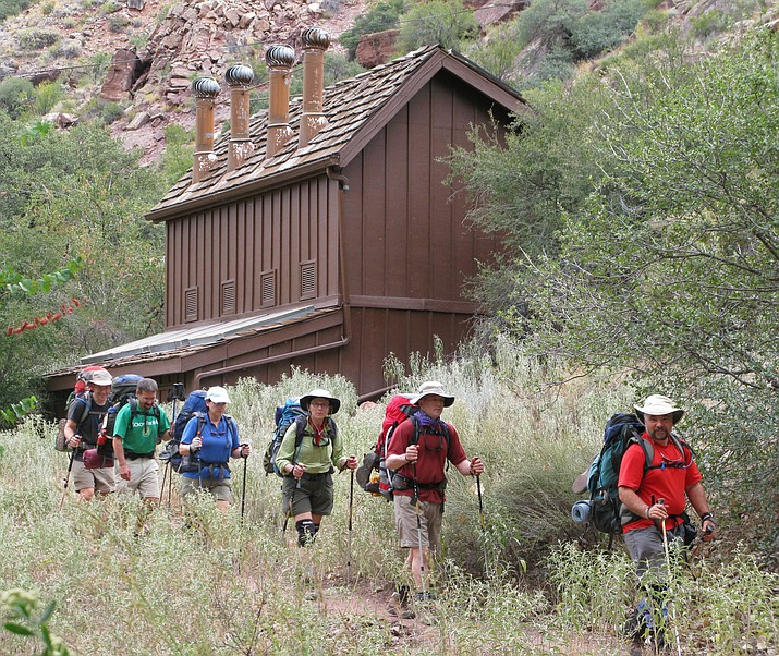 Hikers visiting Cottonwood Campground (pictured) are advised to treat any water not carried in.