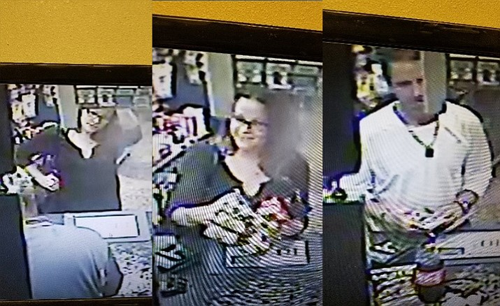 Police are looking for suspects involved in using counterfeit money. The suspects are described as a white male and female. If anyone has information involving these particular individuals, or counterfeit money being passed in the Verde Valley, they are encouraged to contact Cottonwood Police at 928-649-1397 or Silent Witness at 800-932-3232.
