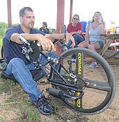 Disabled former police officer raising money for operation in Thailand photo