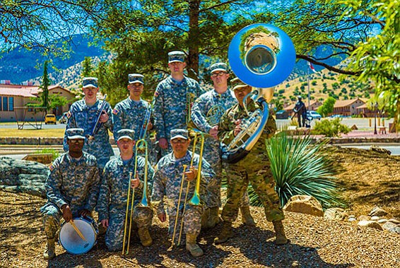 Some of the Frontier Brass band from the U.S. Army that will play in Prescott Valley Saturday, Aug. 19. (Courtesy)
