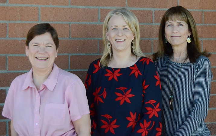 Pamela Bensmiller, Yavapai County Public Fiduciary, just got two new licensed fiduciaries, Janet Wells and Kathryn Blair. Photo courtesy of Yavapai County