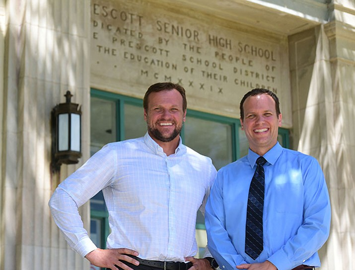 Stan and Mark Goligoski both graduated from Prescott High School and remain in the area giving back to the community that raised them. (Les Stukenberg/Courier)