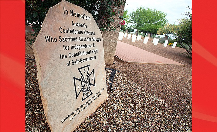 This is the monument erected at the state-run veterans cemetery in Sierra Vista  (Photo by Mark Levy, Sierra Vista Herald)