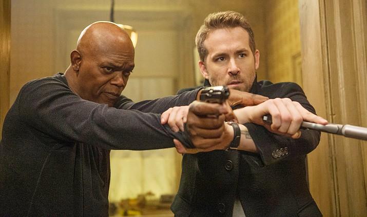 Samuel L. Jackson and Ryan Reynolds star in The Hitman's Bodyguard.