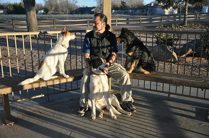 Professional dog trainer Tony Carcoba moved to Chino Valley 20 years ago. (Tony Carcoba/Courtesy)