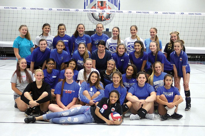 The Kingman Academy volleyball team looks to improve on last season's 3-7 mark in the 2A West Region. First-year head coach Bill McCord has faith that the Lady Tigers can succeed in 2017 if they play together.